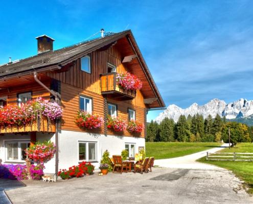Detailansicht vom Fürsterhof in Ramsau am Dachstein