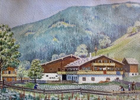 Aquarell vom Walcherhof