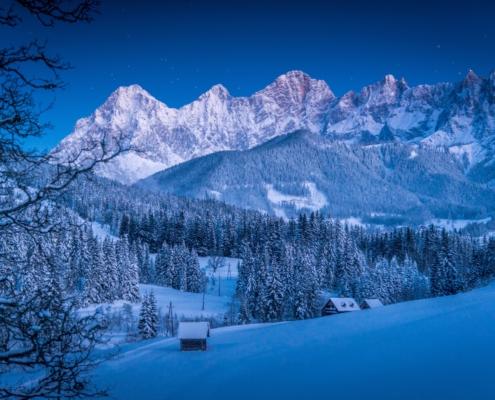 Winternacht in Ramsau am Dachstein