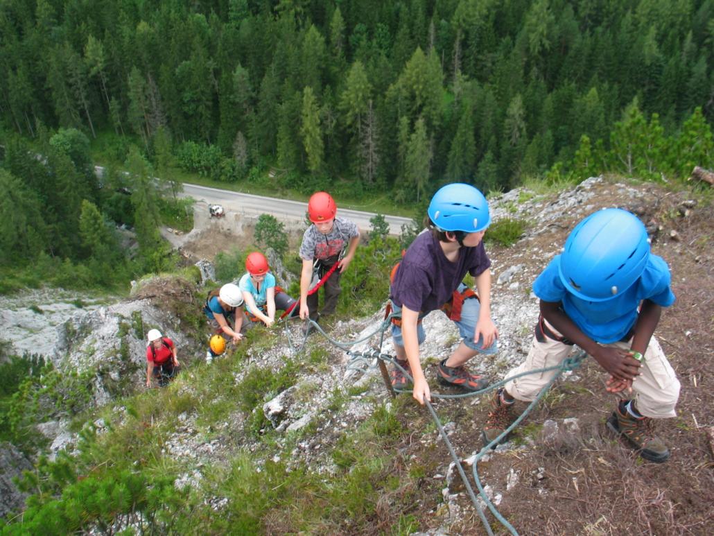 Klettersteig Leopoldsteinersee : Klettersteige gjaid alm hütte