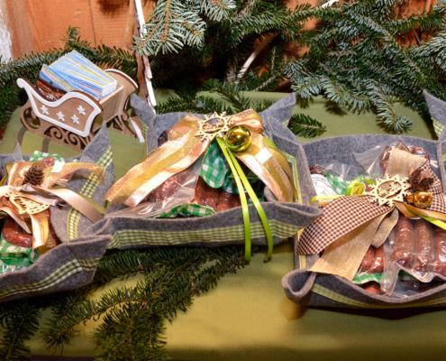 Geschenkspackungen von Hochlandrindprodukten
