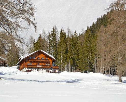 Gasthaus Edelbrunn im Winter