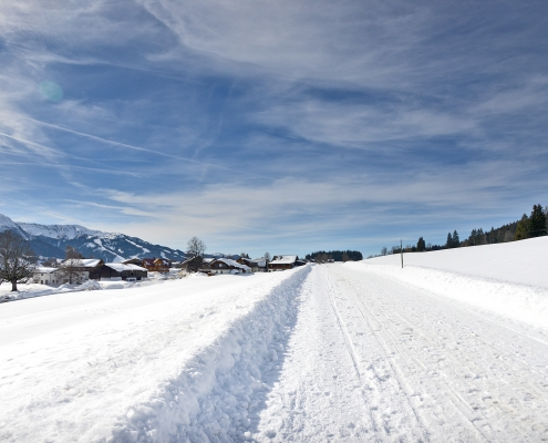 Auf dem Winterwanderweg der Kulmbergrunde zum Frienerhof
