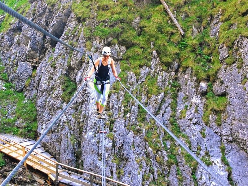 Klettersteig Ramsau : Ramsauer klettersteig tour zimmer appartements pension sonnhof